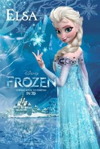 3 affiches pour frozen la reine des neiges