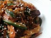 Japchae: Vermicelles sautées légumes