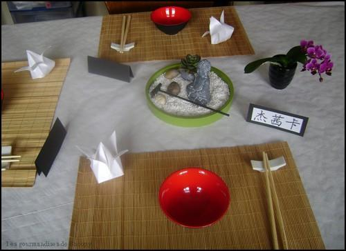 D co de table asiatique paperblog - Centre de table jardin zen tours ...
