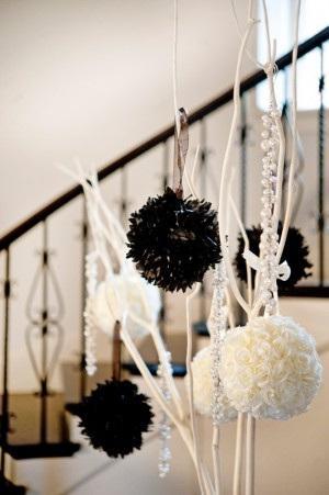 D coration de mariage baroque blanche paperblog for Deco quoi mettre dans un grand vase