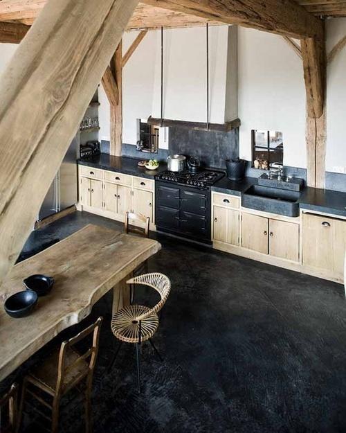 bois brut en cuisine - paperblog - Cuisine En Bois Brut