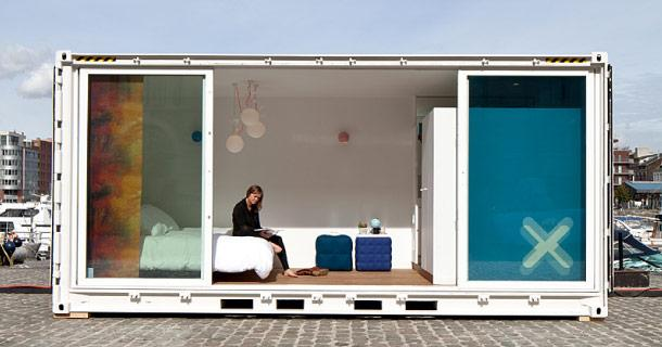 des containers recycl s en h tel de luxe voir. Black Bedroom Furniture Sets. Home Design Ideas