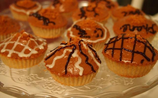 Cupcakes au speculos et au cognac!