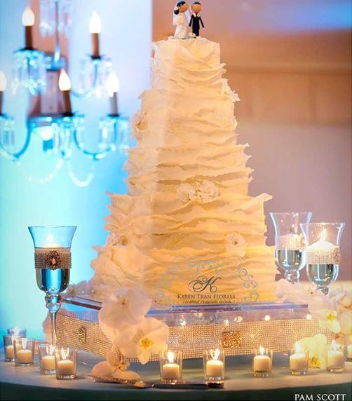 D coration de mariage bleu turquoise voir - Presentoire gateau mariage ...
