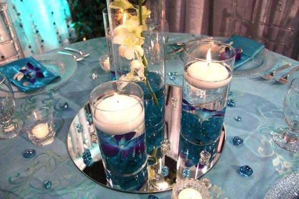 Décoration de mariage bleu turquoise  À Voir