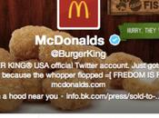 compte twitter @burgerking piraté transformé McDonald's