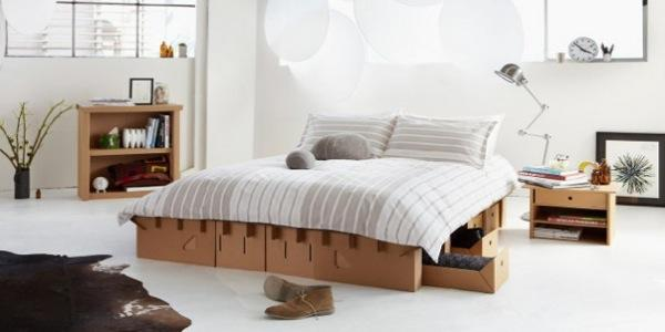 paperclip bed le lit en carton 100 recyclable paperblog. Black Bedroom Furniture Sets. Home Design Ideas
