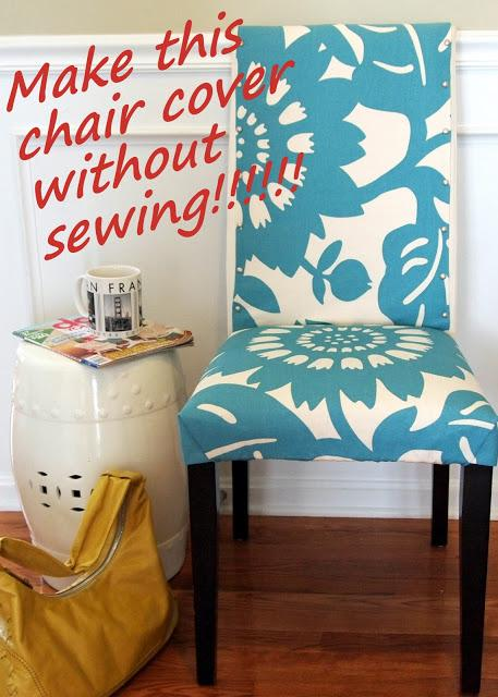 Coudre des housses pour ses chaises patrons tutos voir - How to make easy slipcovers for dining room chairs ...