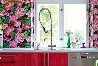 today i ce magnifique papier peint fleurs voir. Black Bedroom Furniture Sets. Home Design Ideas