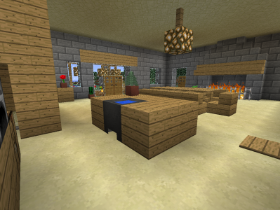 Mon exp rience minecraft paperblog for Salle a manger minecraft