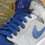 Air Jordan 1 Retro Mid Matte Silver Laser Purple