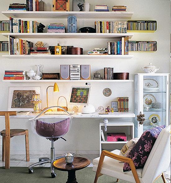 tendance d co les petits bureaux voir. Black Bedroom Furniture Sets. Home Design Ideas