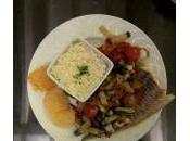 Recette cahier Mélody filet poisson, riz, petits légumes tuiles parmesan