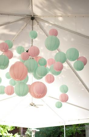 ... et une réception toute en douceur composée de rose et de vert d