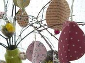 Easter Party arbre Pâques suspensions papier
