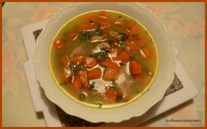 Potage petits pois carottes et lardons paperblog for Petit pois cuisine