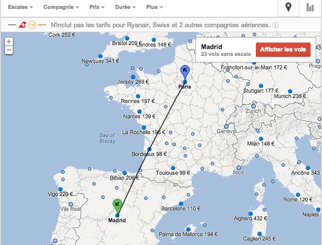 Google lance en france son comparateur de prix pour le transport a rien paperblog - Google comparateur de vol ...
