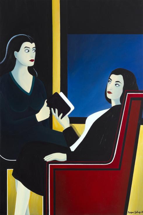 marjane satrapi une peintre haute en couleur paperblog. Black Bedroom Furniture Sets. Home Design Ideas