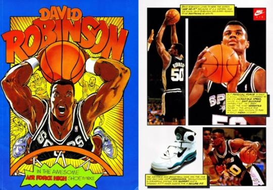 Nike Basketball Vintage Comic Books Pubs de 1993