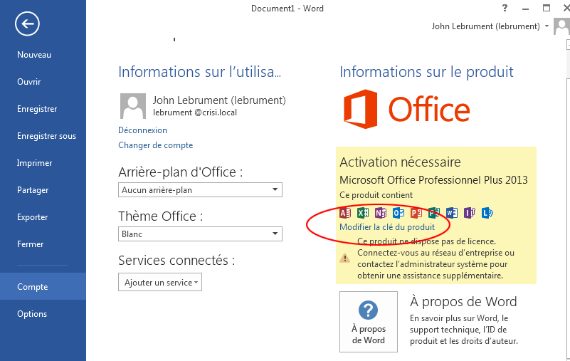 Cle office 2013 - Activer office professional plus 2013 ...