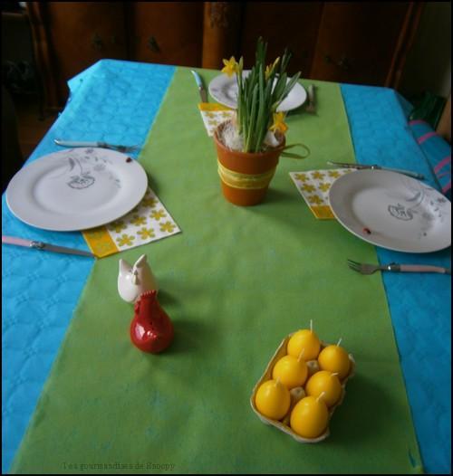 D coration de table pour p ques lire - Decoration de paques pour table ...