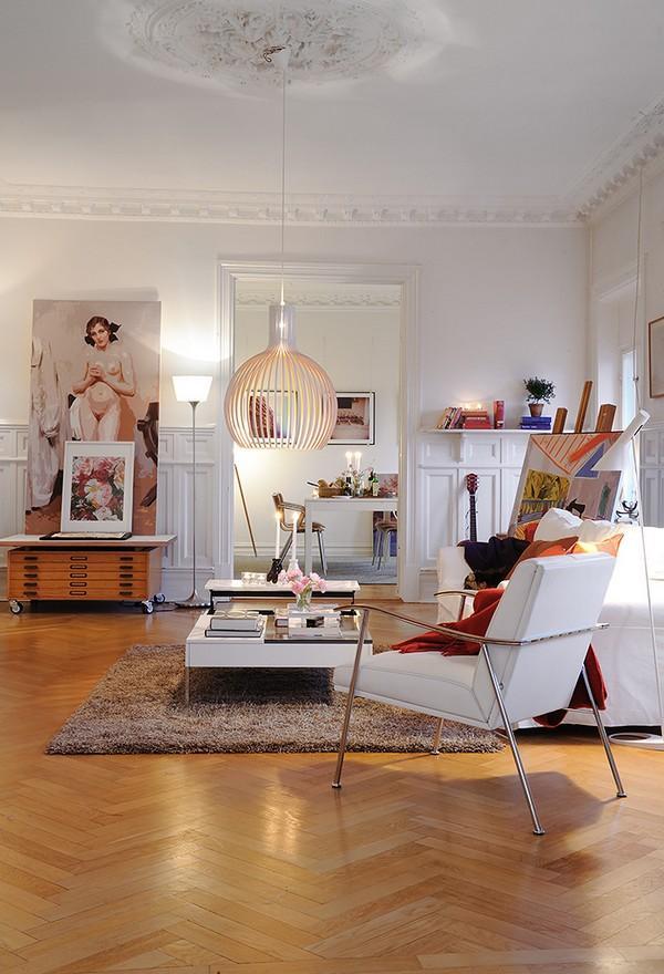 Un grand appartement scandinave et chaleureux voir for Grand appartement design