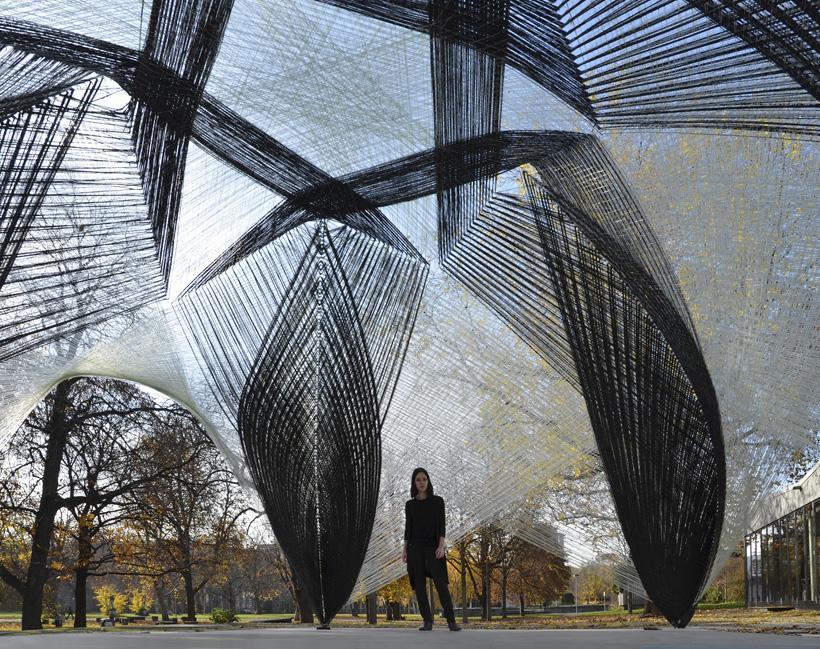 Des pavillons en fibre de verre par icd itke paperblog Architecture en verre