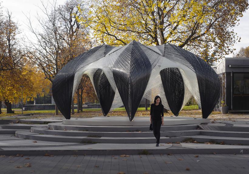 des pavillons en fibre de verre par icd itke paperblog. Black Bedroom Furniture Sets. Home Design Ideas