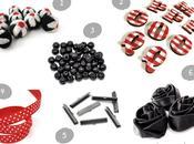Inspirations noir rouge pour créations... matériel créatif style rétro
