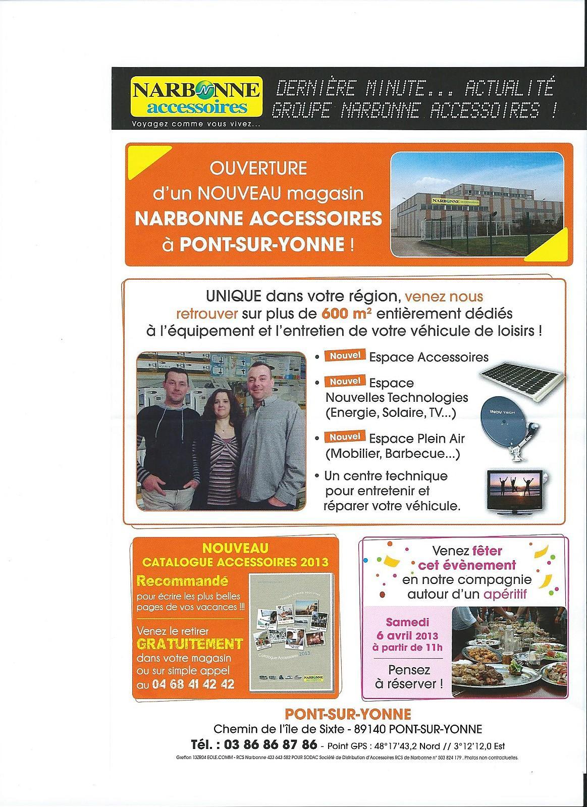 Narbonne accessoires nouveau a pont sur yonne 89140 - Narbonne accesorios ...