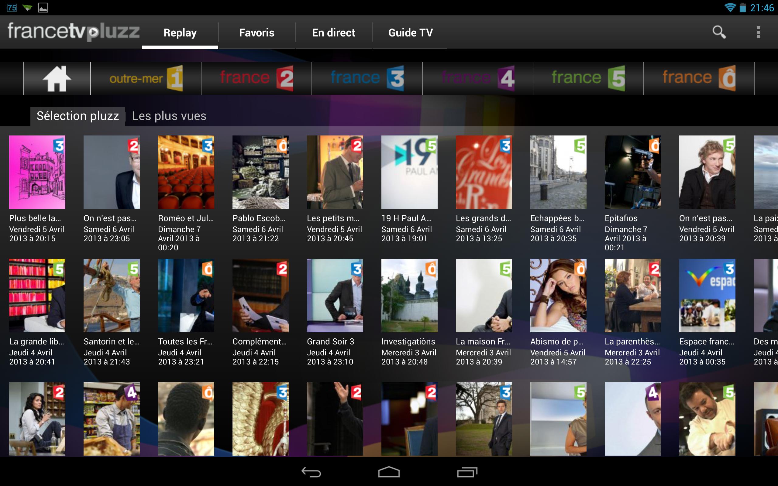 les applications indispensables pour regarder la tv sur votre tablette android voir. Black Bedroom Furniture Sets. Home Design Ideas