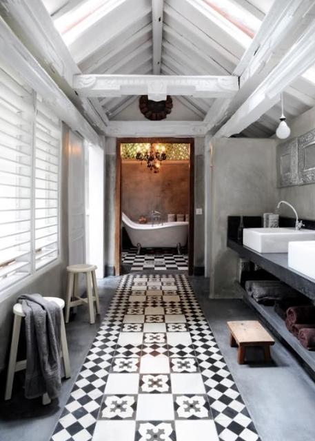le grand retour des carreaux de ciment paperblog. Black Bedroom Furniture Sets. Home Design Ideas