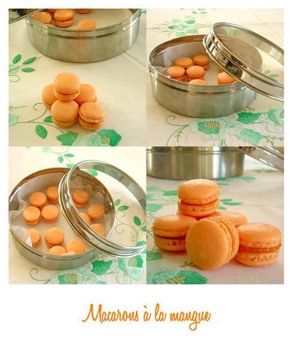 des macarons la mangue en hommage la mangue pour que l 39 app tit revienne paperblog. Black Bedroom Furniture Sets. Home Design Ideas