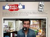 Nescafé donne carte blanche inconnu, pour aller rencontrer amis Facebook