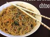 Poêlée nouilles chinoises crevettes