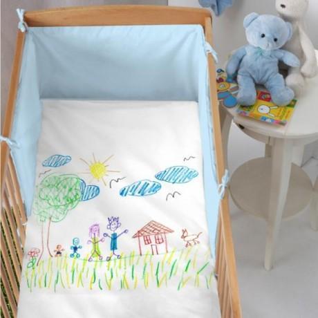 personnaliser une housse de couette b b paperblog. Black Bedroom Furniture Sets. Home Design Ideas