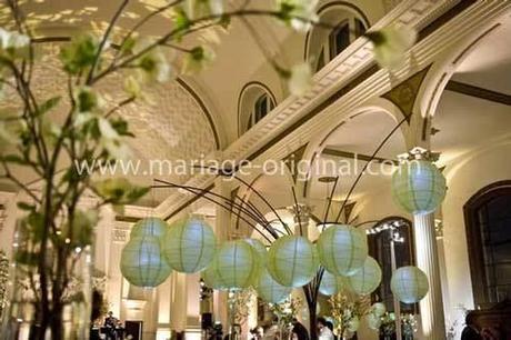 decoration de mariage vert anis paperblog