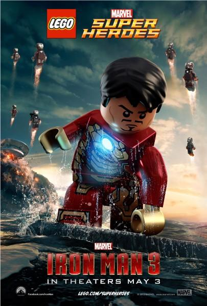 Iron man 3 les posters en lego marvel super heroes
