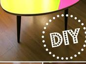 relooking express coup fluo table vintage