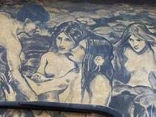 L'homme fait votre voiture poussiéreuse oeuvre d'art