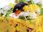 Recette indienne Rava upma Semoule légumes