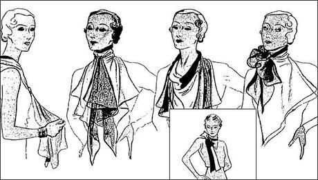 Diff rentes mani res de porter un foulard t 1933 - Differentes facons de porter un foulard ...