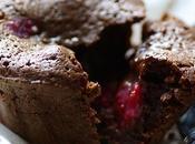 Moelleux chocolat, coeurs framboises