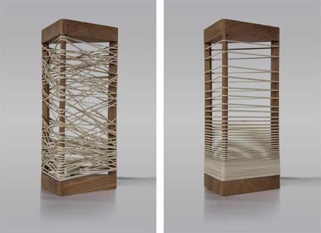 la lampe delta une lampe en bois paperblog. Black Bedroom Furniture Sets. Home Design Ideas