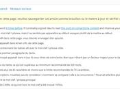 Check liste pour publication d'articles avec WordPress