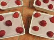 Framboises fromage blanc, ricotta fond bastognes