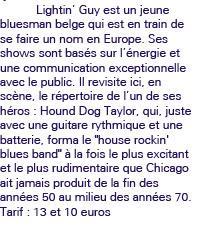 LIGHTNIN' GUY plays HOUND DOG TAYLOR 14 JUIN 2013 à 20H30