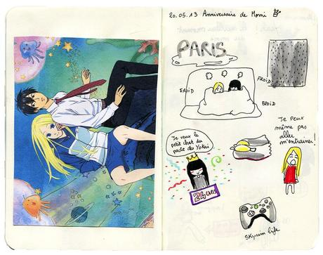 Carnet à dessin #10 20.05 Anniversaire de Momi - 21.05 Dussel ! Dorf !