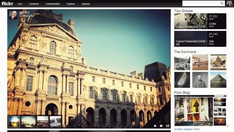 La homepage de Flickr en plein écran