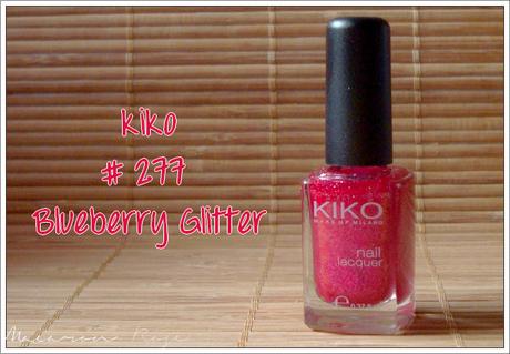 Kiko 277 Blueberry glitter, ou le vernis framboise parfait